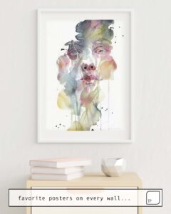 The photo shows an example of furnishing with the motif GARDEN VI by Agnes Cecile as mural