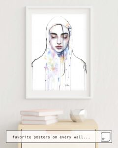 The photo shows an example of furnishing with the motif HABIBI (NUDITY) by Agnes Cecile as mural
