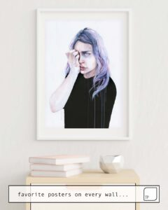 The photo shows an example of furnishing with the motif I COULD BUT I CAN'T by Agnes Cecile as mural