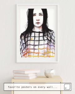 The photo shows an example of furnishing with the motif LEGAMI by Agnes Cecile as mural