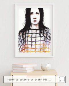 La photo montre un exemple d'ameublement avec le motif LEGAMI par Agnes Cecile comme peinture murale