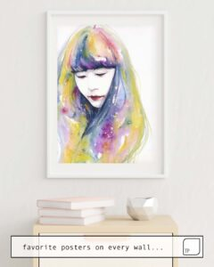 The photo shows an example of furnishing with the motif LIME NIGHTS by Agnes Cecile as mural
