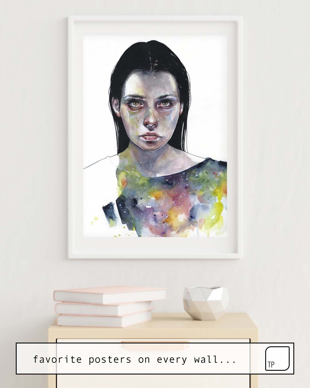 The photo shows an example of furnishing with the motif MOONLIGHT by Agnes Cecile as mural