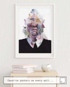 The photo shows an example of furnishing with the motif MR. AFTERTHOUGHT by Agnes Cecile as mural