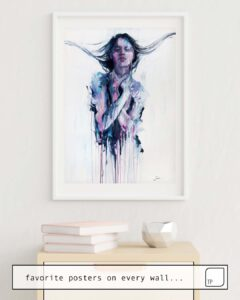 The photo shows an example of furnishing with the motif NON ERANO LE MIE MANI by Agnes Cecile as mural