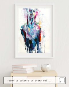 The photo shows an example of furnishing with the motif NOTHING IS ENOUGH by Agnes Cecile as mural