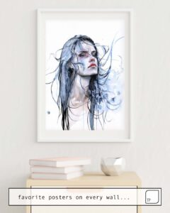 The photo shows an example of furnishing with the motif OBSTINATE IMPASSE by Agnes Cecile as mural