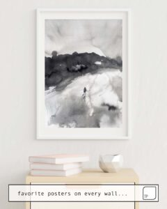 The photo shows an example of furnishing with the motif RUN AWAY by Agnes Cecile as mural