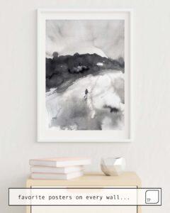 La photo montre un exemple d'ameublement avec le motif RUN AWAY par Agnes Cecile comme peinture murale