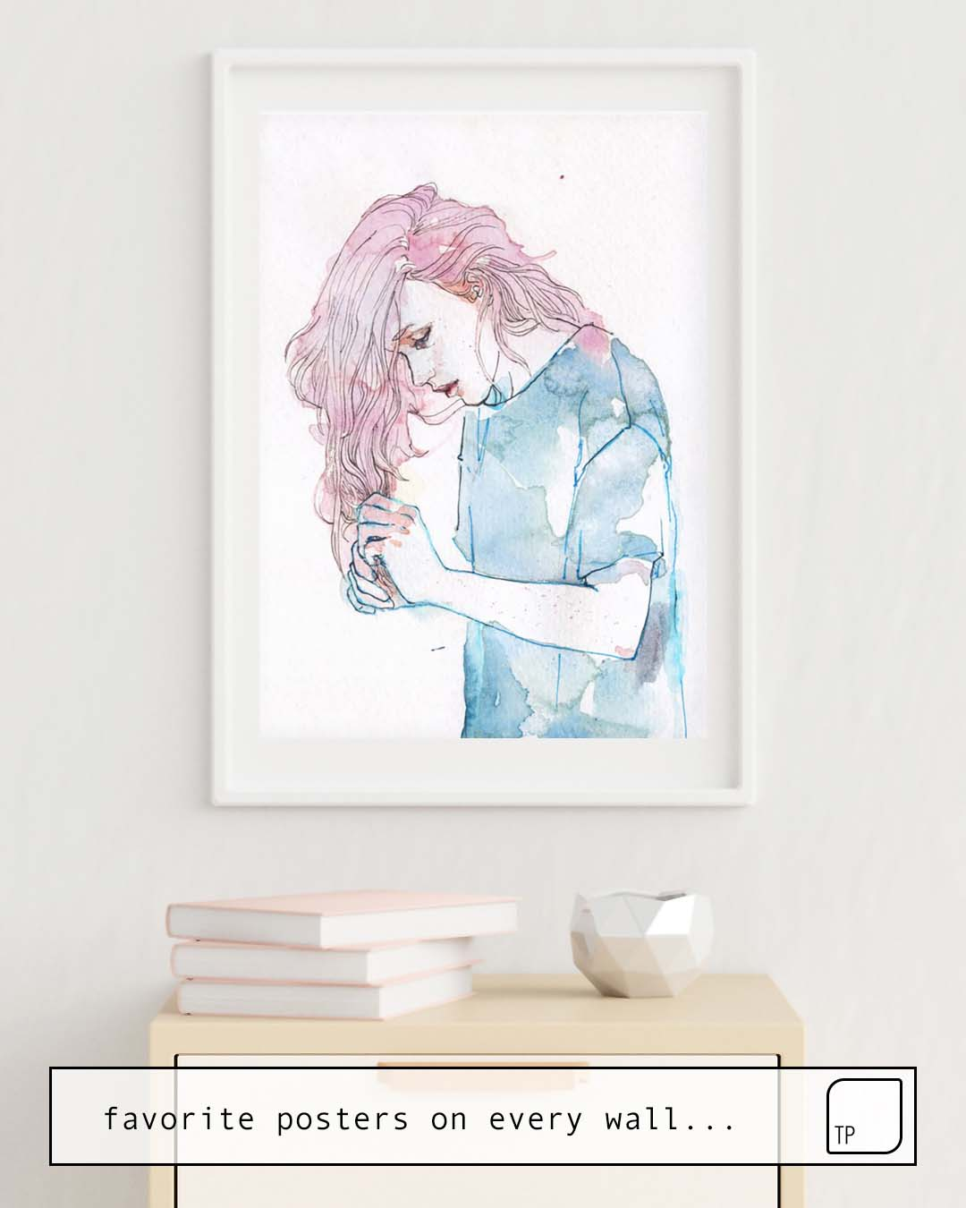 The photo shows an example of furnishing with the motif SMALL PIECE 08 by Agnes Cecile as mural