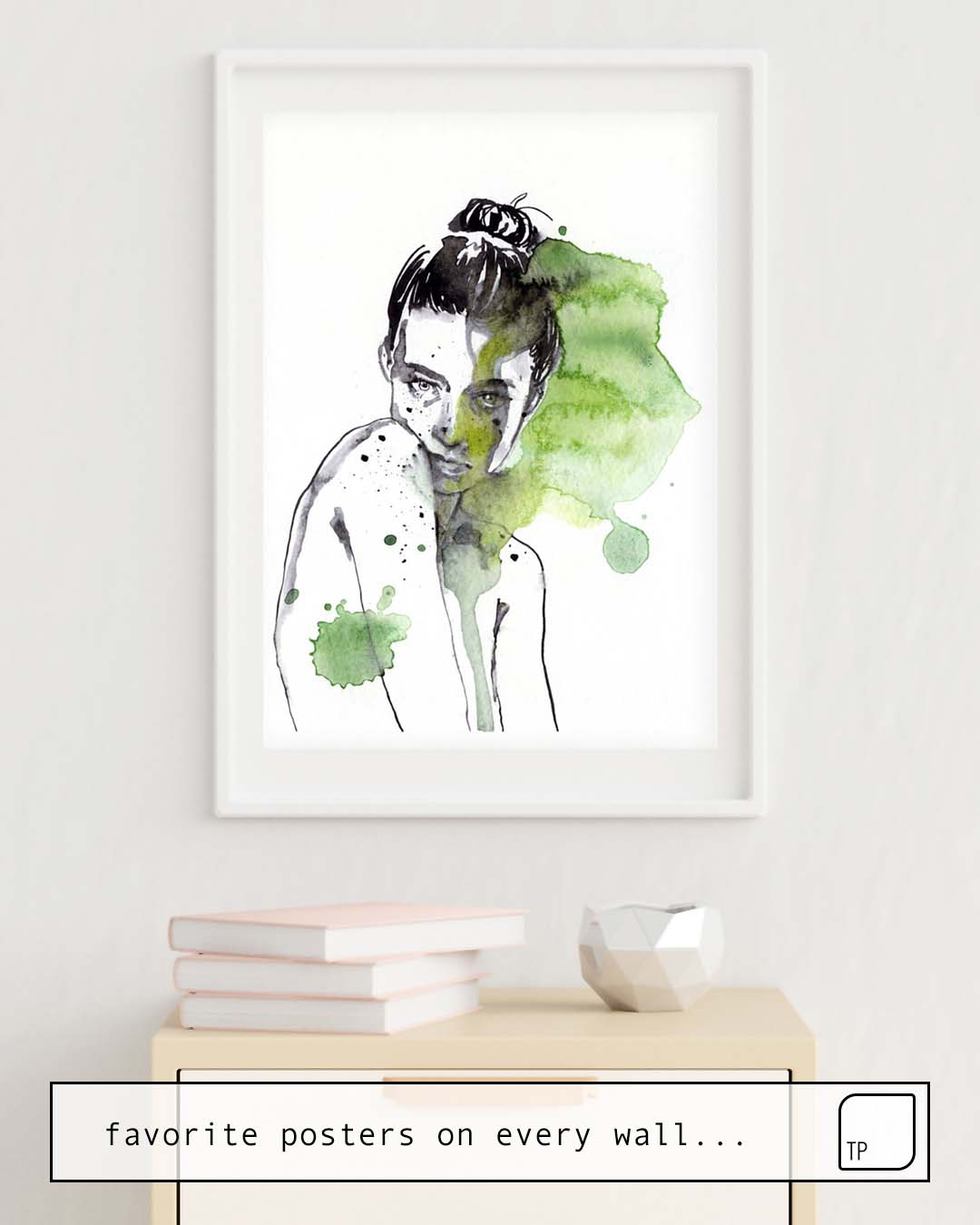 The photo shows an example of furnishing with the motif SMALL PIECE 30 by Agnes Cecile as mural