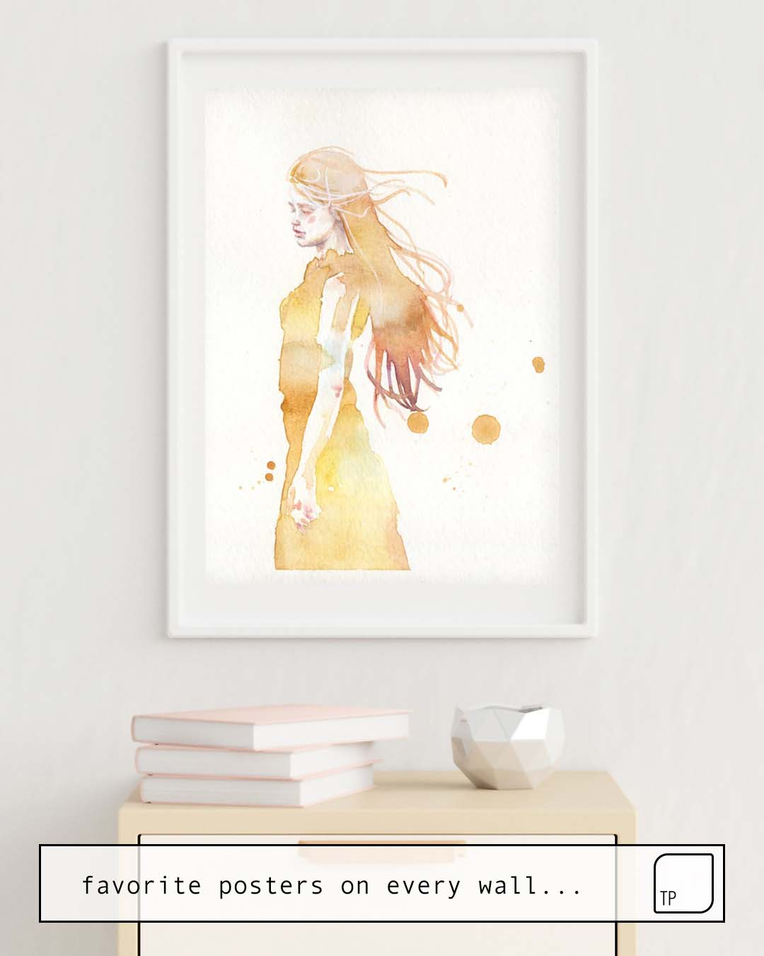 The photo shows an example of furnishing with the motif SMALL PIECE 50 by Agnes Cecile as mural