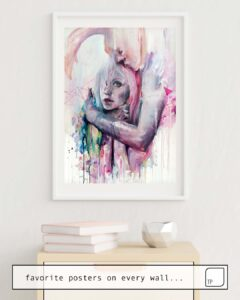 The photo shows an example of furnishing with the motif THOUGHT IN METASTASIS by Agnes Cecile as mural
