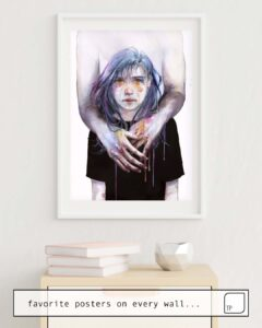 The photo shows an example of furnishing with the motif TINY CREATURE by Agnes Cecile as mural