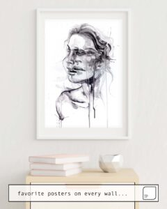 The photo shows an example of furnishing with the motif TREMORE by Agnes Cecile as mural