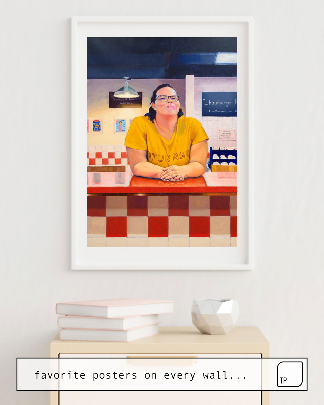Affiche | BLANCA AT FIVE GUYS par Alexander Grahovsky