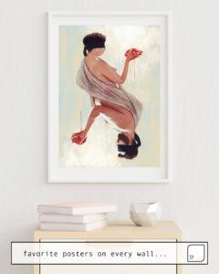 La photo montre un exemple d'ameublement avec le motif TWO HEARTS par Alexander Grahovsky comme peinture murale