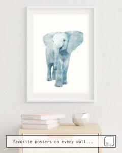 La photo montre un exemple d'ameublement avec le motif ELEPHANT par Amy Hamilton comme peinture murale