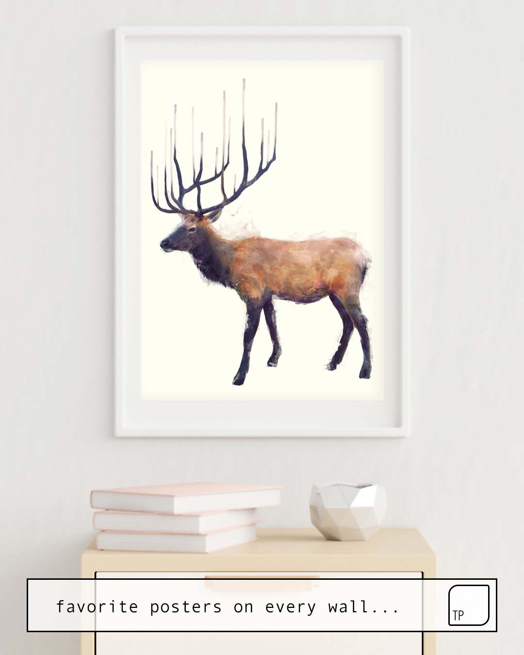 Poster   ELK // REFLECT (LEFT) by Amy Hamilton
