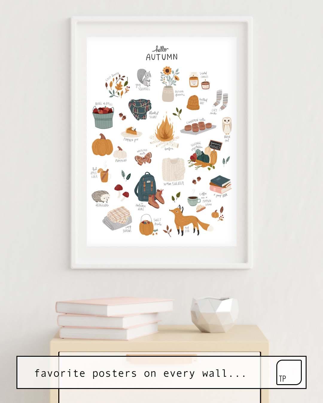 Affiche   HELLO AUTUMN par Amy Hamilton