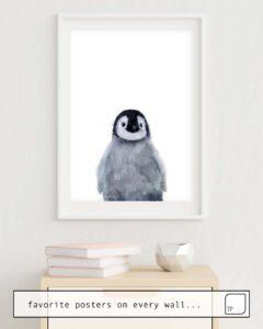 Das Bild zeigt ein Einrichtungsbeispiel mit dem Motiv LITTLE PENGUIN von Amy Hamilton als Wandbild
