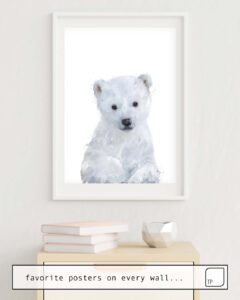 The photo shows an example of furnishing with the motif LITTLE POLAR BEAR by Amy Hamilton as mural