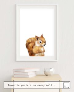 The photo shows an example of furnishing with the motif LITTLE SQUIRREL by Amy Hamilton as mural