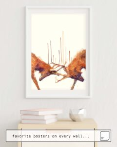 The photo shows an example of furnishing with the motif STAGS // STRONG by Amy Hamilton as mural