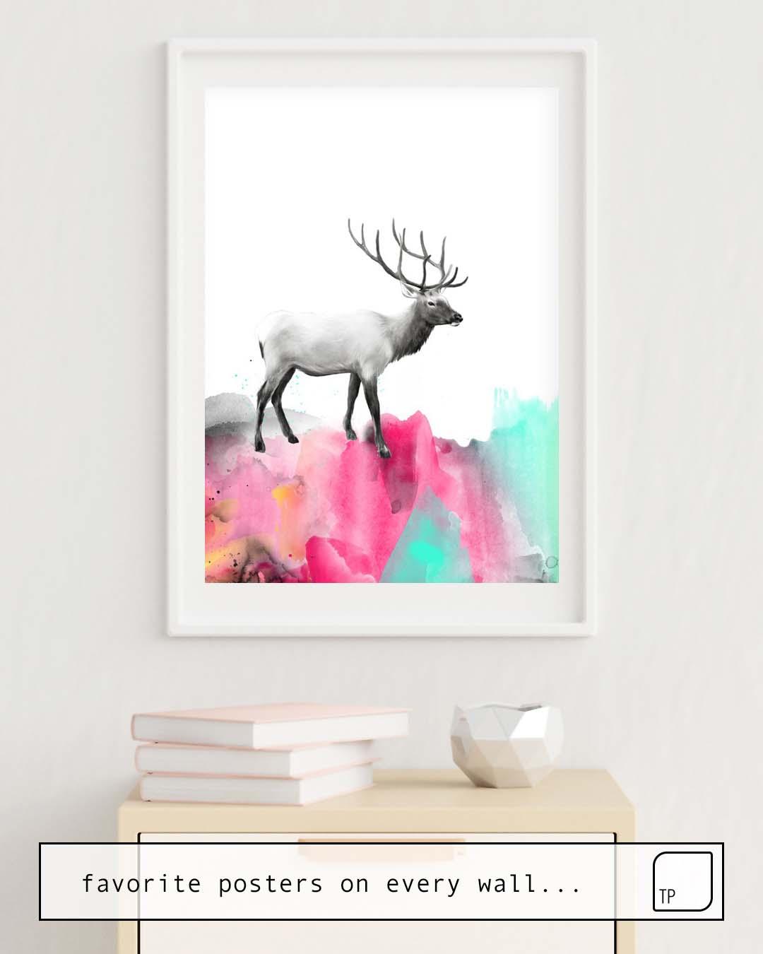 Poster   WILD NO. 2 // ELK by Amy Hamilton
