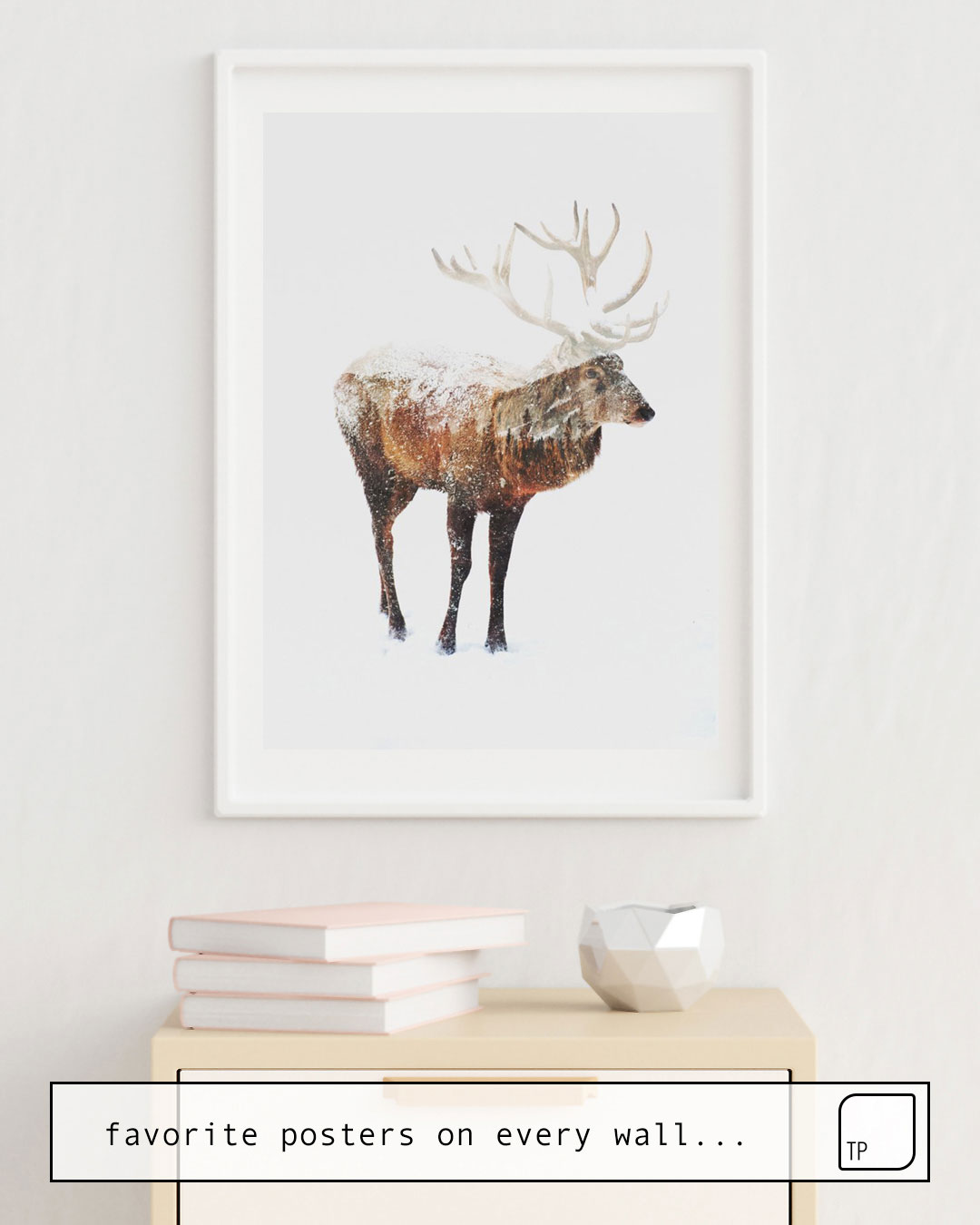 Poster | ARCTIC DEER by Andreas Lie