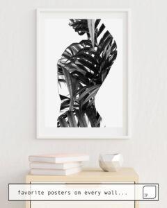 La photo montre un exemple d'ameublement avec le motif AVA par Andreas Lie comme peinture murale