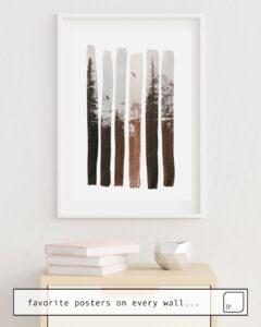 Das Bild zeigt ein Einrichtungsbeispiel mit dem Motiv INTO THE WILD von Andreas Lie als Wandbild