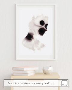 Das Bild zeigt ein Einrichtungsbeispiel mit dem Motiv PETAL von Andreas Lie als Wandbild