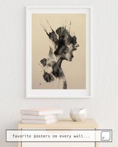 La photo montre un exemple d'ameublement avec le motif SCREAM #2 par Andreas Lie comme peinture murale