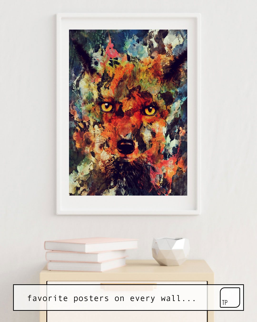 Poster | WATERCOLOR FOX by Andreas Lie