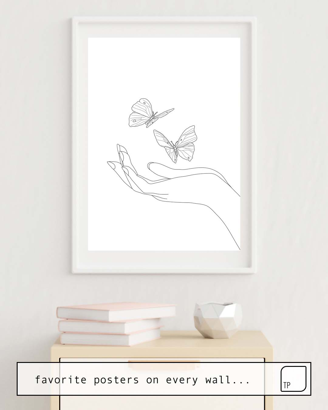 Affiche | BUTTERFLIES ON THE PALM OF THE HAND par Andreas12
