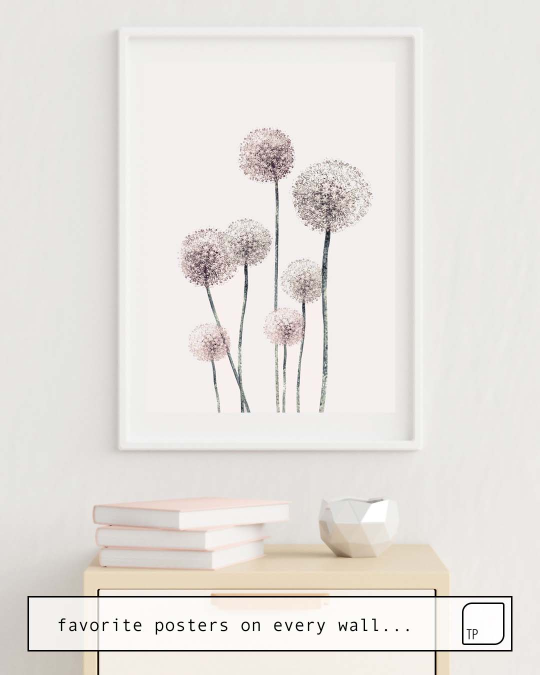The photo shows an example of furnishing with the motif DANDELIONS by Andreas12 as mural