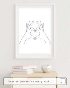 La foto muestra un ejemplo de decoración con el motivo LOVE HEART por Andreas12 como un mural