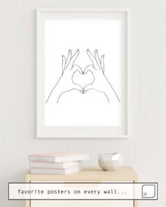 La photo montre un exemple d'ameublement avec le motif LOVE HEART par Andreas12 comme peinture murale