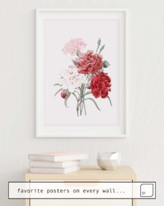 The photo shows an example of furnishing with the motif PEONIES by Andreas12 as mural