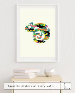 Das Bild zeigt ein Einrichtungsbeispiel mit dem Motiv ALIVE von Andy Westface als Wandbild