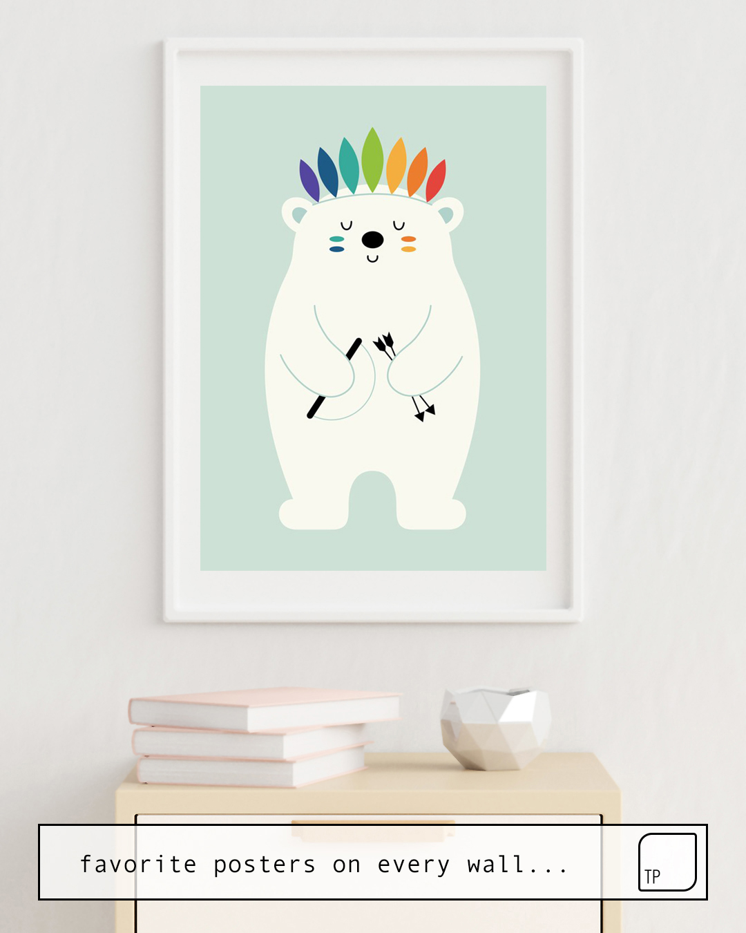 Poster | BE BRAVE POLAR by Andy Westface