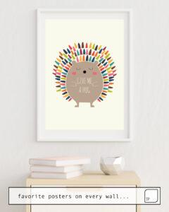 La foto muestra un ejemplo de decoración con el motivo GIVE ME A HUG por Andy Westface como un mural