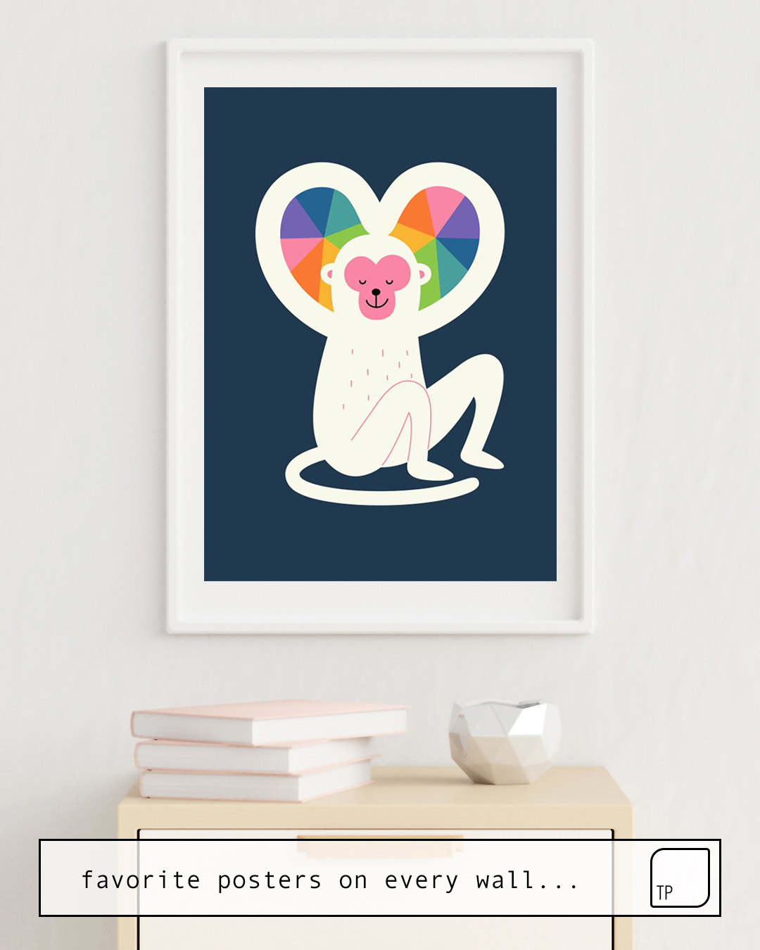 Das Bild zeigt ein Einrichtungsbeispiel mit dem Motiv HEART von Andy Westface als Wandbild