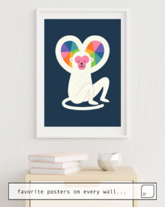 La foto muestra un ejemplo de decoración con el motivo HEART por Andy Westface como un mural