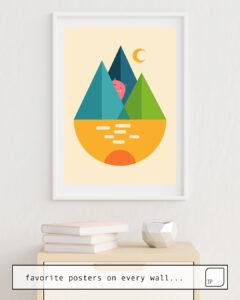 Das Bild zeigt ein Einrichtungsbeispiel mit dem Motiv HELLO von Andy Westface als Wandbild