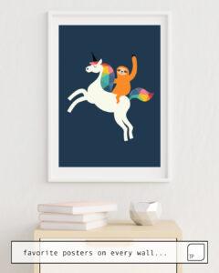 Das Bild zeigt ein Einrichtungsbeispiel mit dem Motiv MAGIC TIME von Andy Westface als Wandbild