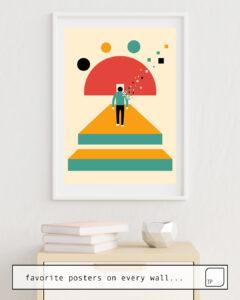 La foto muestra un ejemplo de decoración con el motivo MY WAY por Andy Westface como un mural