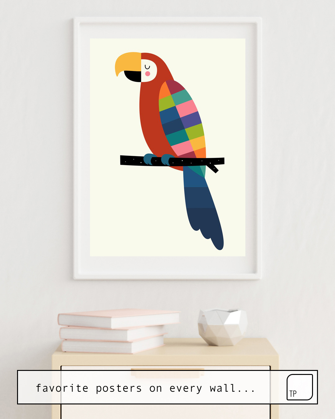 Poster | RAINBOW PARROT by Andy Westface