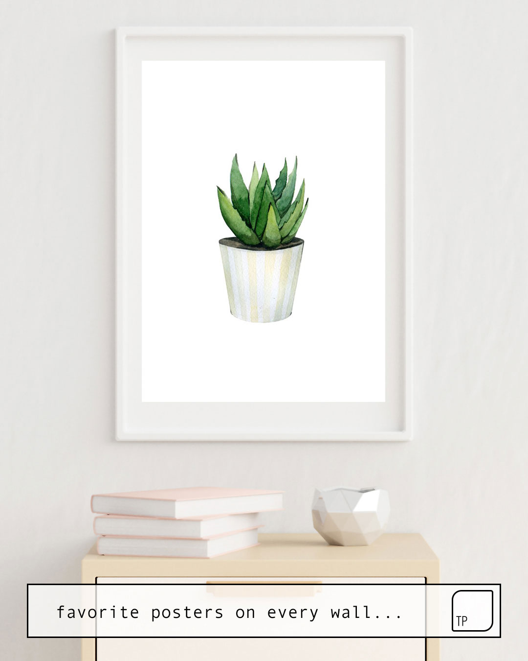 Poster | ALOE VERA PLANT IN A POT. by Art by ASolo